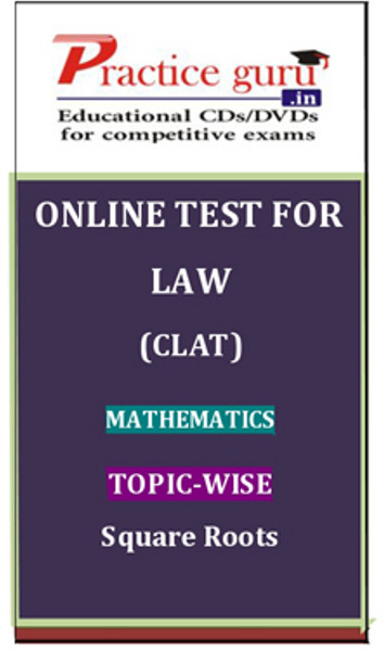 Practice Guru Law (CLAT) Mathematics Topic-wise Square Roots Online Test(Voucher)
