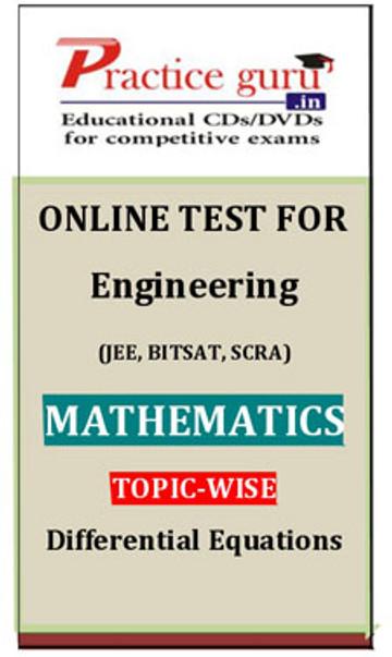 Practice Guru Engineering (JEE, BITSAT, SCRA) Mathematics Topic-wise - Differential Equations Online Test(Voucher)