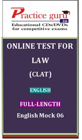Practice Guru Law (CLAT) Full-length English Mock 06 Online Test(Voucher)