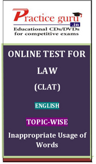 Practice Guru Law (CLAT) English Topic-wise Inappropriate Usage of Words Online Test(Voucher)