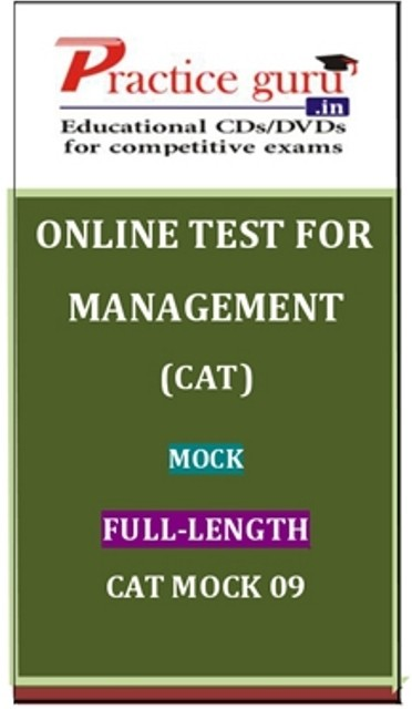 Practice Guru Management (CAT) Mock Full - Length CAT Mock 09 Online Test(Voucher)