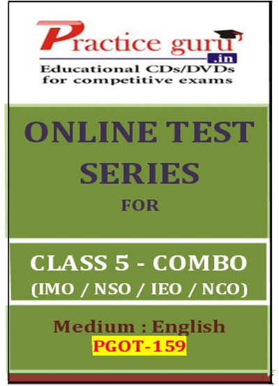 Practice Guru Series for Class 5 - Combo Pack - IMO / NSO / IEO / NCO Online Test(Voucher)