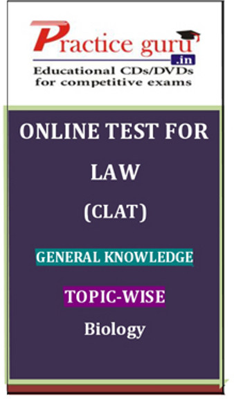 Practice Guru Law (CLAT) General Knowledge Topic-wise Biology Online Test(Voucher)
