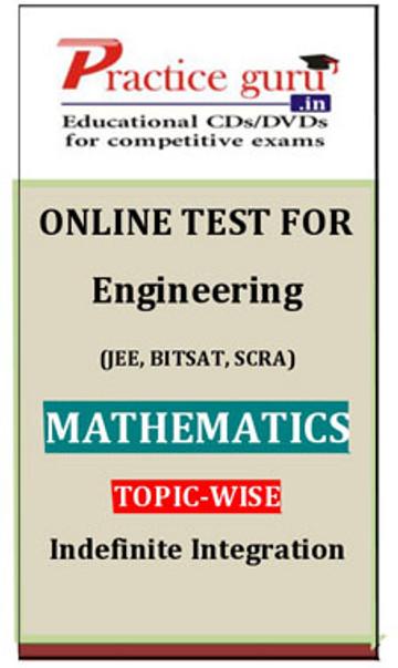 Practice Guru Engineering (JEE, BITSAT, SCRA) Mathematics Topic-wise - Indefinite Integration Online Test(Voucher)