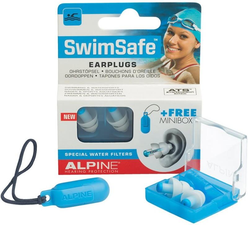 Alpine SwimSafe Ear Plug(White, Blue)