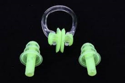 Jern Swim Pro Ear Plug & Nose Clip(Green)