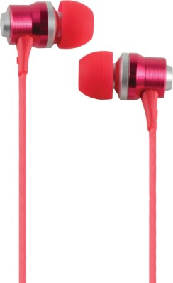 Cliptec BME878RD Rhythm-Stereo Earphone with Mic Volume Control Stereo Dynamic Headphone Wired Headphones