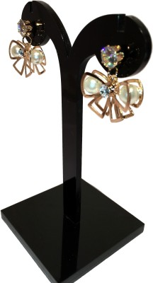 Chains n Charms Pearl Flower Crystal Alloy Drop Earring