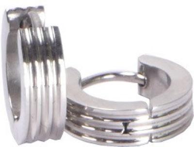 Shotshop Square Silver Stainless Steel Stud Earring