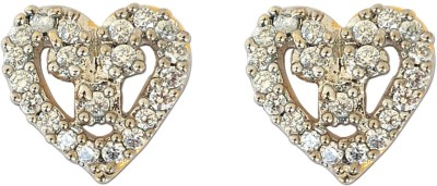 Enzy AD Stone Heart Shaped Tops Alloy Stud Earring