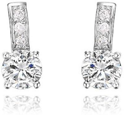 Silver Shoppee Designer Zircon Sterling Silver Stud Earring