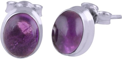 Silver Prince Designer Amethyst Silver Stud Earring