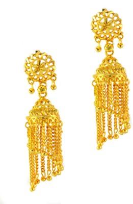 imillery imillery golden Alloy Jhumki Earring