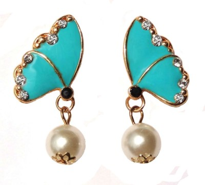 Shreya Collection Spring Sparkle-Blue Alloy Stud Earring