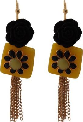 TM FASHIONS Spring Sparkle Brass Tassel Earring