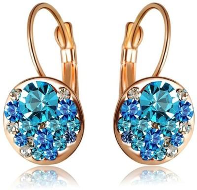 Wearyourfashion Sparkling Blue Round AAA Austrian Alloy Drop Earring