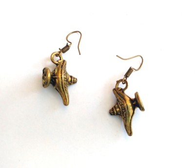 SrinidhiHandiCreations Lamp Brass Dangle Earring