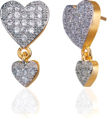 Fashion Fusion ES006505A Aanchal Cubic Zirconia Brass, Alloy Drop Earring