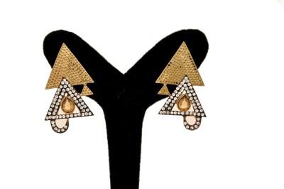 Arohi Jewells & Gems AJG19 Copper Earring Set