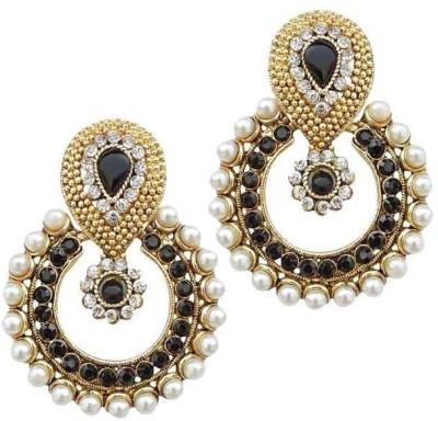 Grand Jewels Goldy53 Emerald Alloy, Brass Chandbali Earring