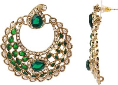 Maisha Paisley Green Alloy Chandbali Earring