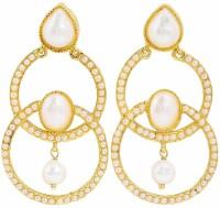 Maayra Stylish Pearl Copper Drop Earring best price on Flipkart @ Rs. 520