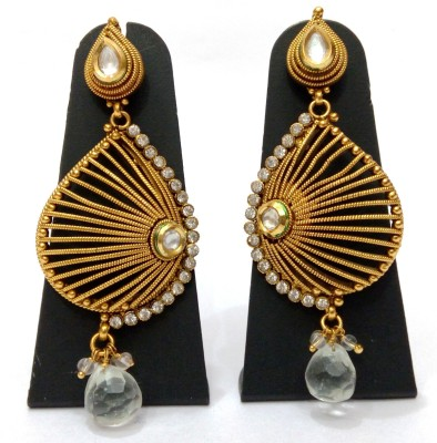 Womaniya Golden Cage Alloy Drop Earring