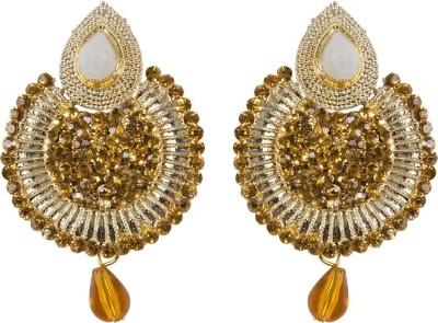 Grand Jewels Chand Pearl Alloy Huggie Earring