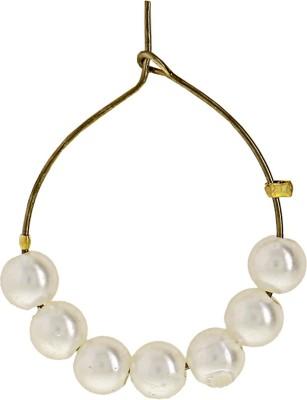 Niara Pearl Metal Hoop Earring
