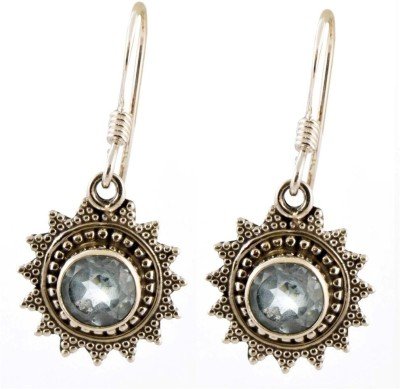 YugshaJewels Topaz Silver Dangle Earring