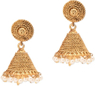 Prita Bell Shaped Gold Plated Alloy Jhumki Earring