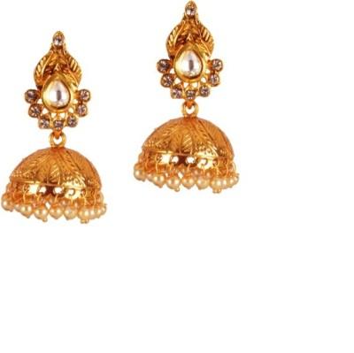 Ratnaraj India Plated Pearl Copper Jhumki Earring