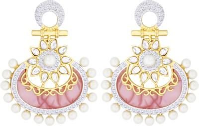 Peora Kundan Brass Drop Earring