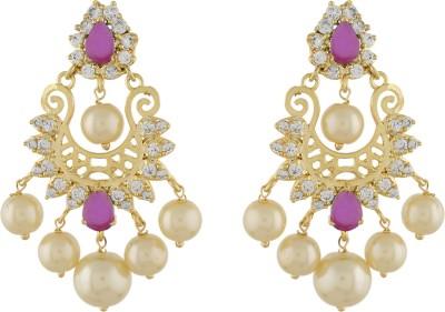 Jewel Planet Beautifully Designed Pearl Alloy Chandbali Earring