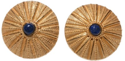 Gharaz Gold plated studs Brass Stud Earring
