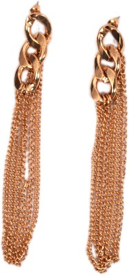 Trinklets Chic Gold Link Metal Dangle Earring