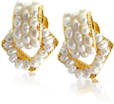 Surat Diamond Enchanting Pure Pearl Metal Stud Earring