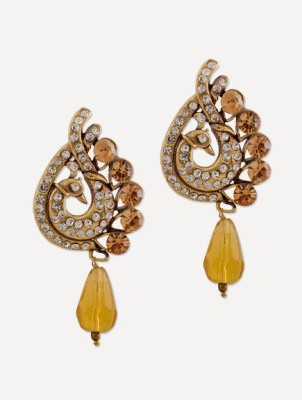 Buy Clues Modern Designer Brass Drop Earring