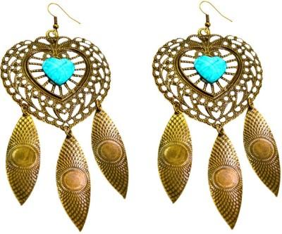 Krishna Mart A Pair Of Brass Ethnic Boho Hippie Earrings Brass Dangle Earring
