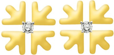 Gunjan Diamond Spring Sparkle Diamond Gold Stud Earring