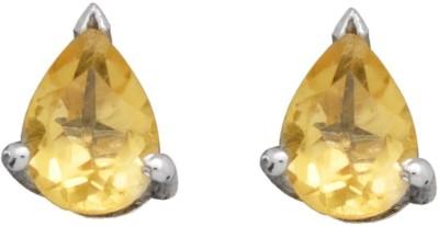 YugshaJewels Elegant YJE-1669 Citrine Sterling Silver Stud Earring