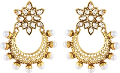Aadi Creations Pearl Grace Copper, Brass Chandbali Earring