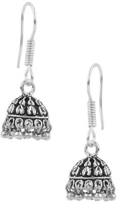 Factorywala Pair Of Oxidized Plating Alloy Jhumki Earring
