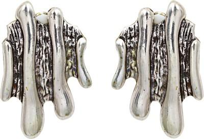 Madclozet Ripple Silver Metal Stud Earring