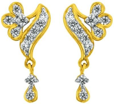 JPearls Awe full Cubic Zirconia Gold Drop Earring