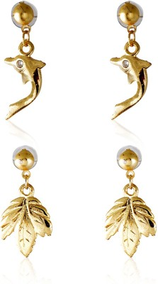 Crunchy Fashion Maple Dolphin Adorbs Alloy Earring Set