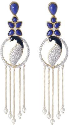 LE Peacock Collection Alloy Drop Earring, Tassel Earring