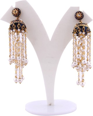 S S Mart Pearl Zhumka Alloy Jhumki Earring
