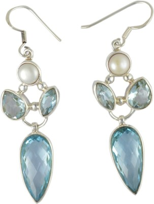 Patashi Exports PEPE002 Topaz Silver Dangle Earring