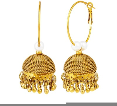 Bling N Beads Antique Pearl Alloy Jhumki Earring
